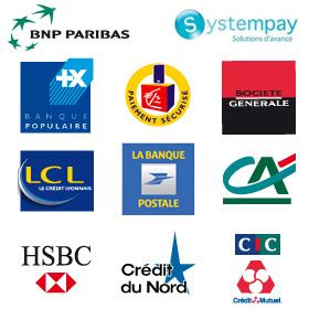 Toutes les banques pré-installées